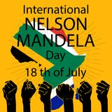 Concept international de Nelson Mandela Day illustration stock