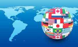 Concept international de transmission illustration libre de droits