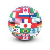 Concept international de transmission Image stock