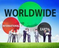 Concept international mondial de connexion de mise en réseau de la terre Photo stock