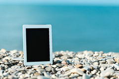 Concept of internet and communication. blank tablet computer on Royalty Free Stock Photography