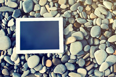 Concept of internet and communication. blank tablet computer on Stock Photo