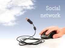 Concept: Internet en de sociale netwerken Stock Afbeeldingen