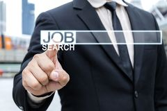 Concept Internet job search. stock image