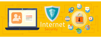 The concept of internet protection Stock Photos