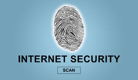Concept of internet security. On blue background Stock Photography