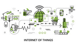 Concept Internet van Dingen Stock Foto