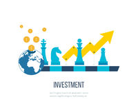 Concept for investment, financial srategy, banking, strategic management. Investment business. Royalty Free Stock Image