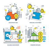 Concept of investment idea, personal and business , payment methods. Royalty Free Stock Photos
