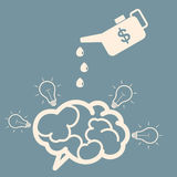 Concept of investment. Monetary motivation of new ideas. Oiler a Royalty Free Stock Photos