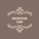 Concept of a Invitation card. Stock Photos