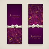 Concept of invitation card with floral decoration. Stock Image