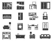 Concept Isolated Furniture Icon Set Stock Photo