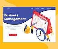 Concept isométrique d'illustration de compétence de gestion d'entreprise illustration libre de droits