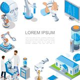 Concept isométrique d'intelligence artificielle illustration libre de droits