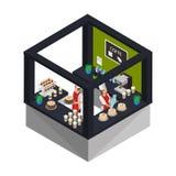 Concept isométrique de boutique de confiserie Image libre de droits