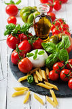 Concept of italian food Stock Images