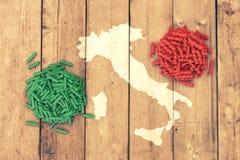 Concept of italian pasta Stock Photos