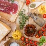 Concept italien de cuisine Image stock