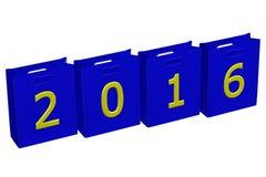 Concept: Jaar 2016 pakketten Stock Afbeeldingen