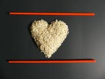 Concept japanese kitchen restaurant rice chopsticks Royalty Free Stock Images