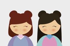 concept japonais de filles illustration stock