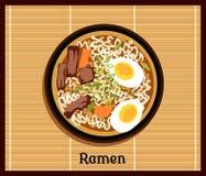 Concept japonais de Ramen Photo libre de droits