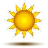 Concept jaune-foncé de bouton de Sun Image stock