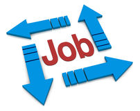 Concept of job Royalty Free Stock Photos
