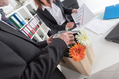 Concept of job loss Royalty Free Stock Images
