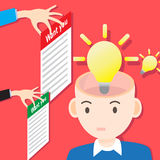 Concept Job Search Want You. Vector concept idea bulb light and job search i want you Royalty Free Stock Photo