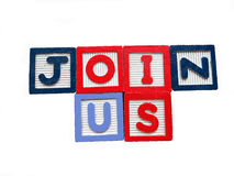 Concept of join us Stock Images