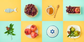 Concept juif de Rosh Hashanah de vacances Photo stock