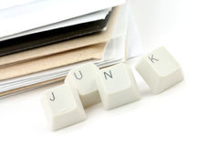 Concept of junk mail Royalty Free Stock Photo