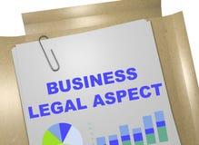 Concept juridique d'aspect d'affaires Image stock