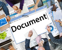 Concept juridique de disques de notes de formes de contrat de document Photographie stock libre de droits