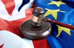 Concept juridique de négociations commerciales de Brexit Photos stock