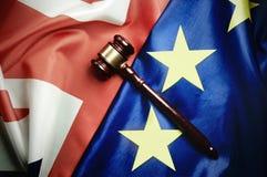 Concept juridique européen BRITANNIQUE de négociations commerciales de Brexit Photo libre de droits