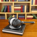 Concept of justice. Gavel and law books. Royalty Free Stock Images