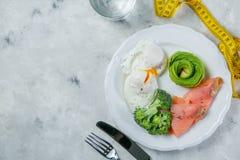 Concept Ketogenic de nourriture - plat avec la nourriture de cétonique Photos stock