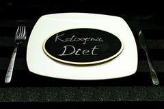 Concept ketogenic dieet royalty-vrije stock afbeeldingen