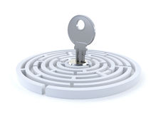 Concept with the key and maze Stock Image