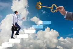 The concept of key to financial success and prosperity. Concept of key to financial success and prosperity Stock Image
