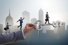The concept of key to financial success and prosperity. Concept of key to financial success and prosperity Stock Images