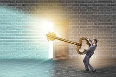 The concept with key to success illustration Royalty Free Stock Photography