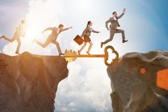 The concept with key to success illustration Royalty Free Stock Image