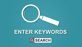 Concept of keywords search. Illustration Royalty Free Stock Photography