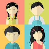 Concept of kids characters. Royalty Free Stock Photos