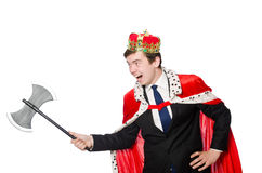 Concept of king businessman Stock Photo