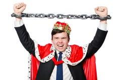 Concept of king businessman Stock Photos